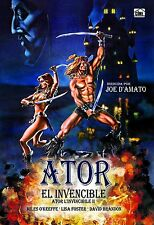Ator the Invincible (1984 The Blade Master **Dvd R2** Miles O'Keeffe Lisa Foster