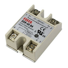 40A / 250V SSR Weiß Solid State Relais-Controller 3-32V DC 24-380V AC