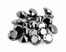 Solitaire Black Diamonds-3 mm - 50 pcs Lot. 2.20 TCW. Certified.Earth Mined.