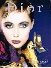 PUBLICITE ADVERTISING 065  1998  DIOR  maquillage  LES TENEBREUSES