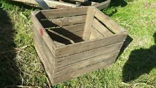 EUROPEAN VINTAGE WOODEN APPLE BOX / CRATE - SHELVES STORAGE BOOKCASE SHELVING-