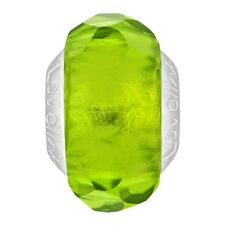 Lovelinks Bead Sterling Silver, Lime Faceted Murano Glass Charm Jewelry TM507