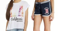 NEW Brookhaven SET Angelica Tee Alba Short Womens Girl White Navy Size 8 RRP £28