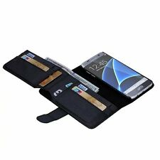 7 Card and Cash Holder Flip Wallet Leather Case Cover For Samsung Galaxy S7 Edge