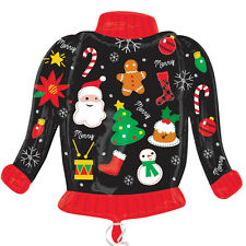 Ugly Christmas Jumper Suéter Forma Globo De Aluminio Fiesta Decoración De Navidad