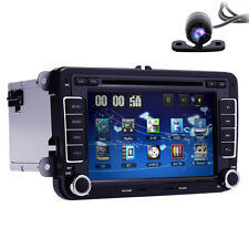 "Volkswagen VW Car Stereo DVD GPS Navigation Radio Bluetooth 7"" 2 Din+Map+Camera"