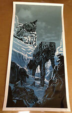 Tim Doyle THE BIG BATTLE UnReal Estate:Star Wars Hoth Movie Print LE #152 of 400