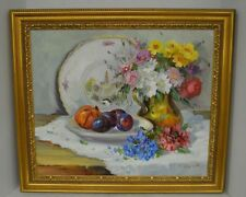 Cugat Signed Original Oil on Canvas Still Life Painting