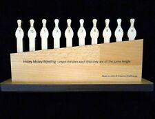 Holey Moley Premium – Wood Brain Teaser Puzzle - 10 Bowling Pins Model
