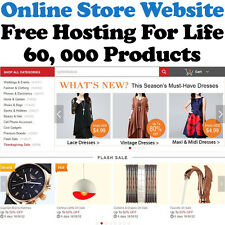 Online Store Website - 60,000 Products - Free Hosting For Life - Home Business