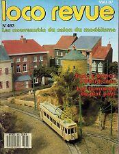 LOCO REVUE N°493 mai 1987 les tramways du plat pays belgique
