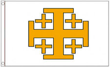 JERUSALEM CROSS FLAG 5' x 3' Medieval Crusaders Knights Templar Holly Order