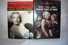 MARILYN MONROE DVD 2 DIFFERENT DVD'S SOME LIKE IT HOT,  HOME TOWN STORY