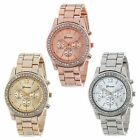 Men Luxury Geneva Bling Stainless Steel Quartz Wrist Watch Women Crystal Watch
