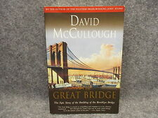 The Great Bridge 1972 Paperback Book David McCullough Story Of Brooklyn Bridge