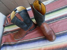Women's Rios Of Mercedes Smooth Ostrich Round To Roper Cowboy Boots  7 B (f838)