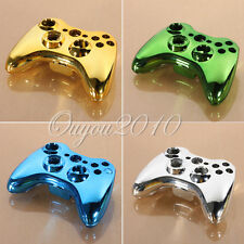 Wireless Controller Shell Case Button Kit Replacement Chrome Iron For Xbox 360