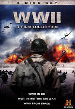 WWII in HD 3-Film Collection (DVD, 2013, 5-Disc Set) NEW