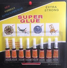 8 x 3G Extra Strong Super Glue for Plastic, Leather, Ceramics, Rubber Metal Wood