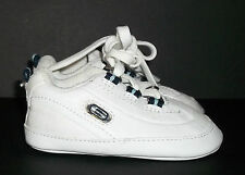 Skechers Premium White/Blue Leather/Synthetic Sneakers Shoes-Baby Boy-Sz 2