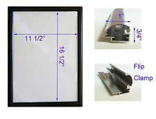 "LED BackLit Box Signage Display Board 13""x 19"" Black Aluminum Frame"