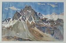 Hans Brasch 1882-1973 large original water colour on paper Alpine landscape