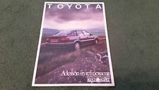 1987 TOYOTA NEW COROLLA inc GT-i 16 / 50 YEARS / MULTI VALVE ENGINES UK BROCHURE