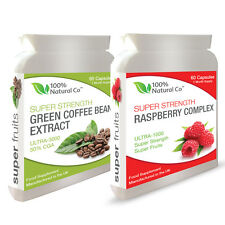 DOUBLE VALUE PACK - Raspberry Ketone Complex and Green Coffee Bean Extract