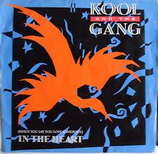 """KOOL AND THE GANG - IN THE HEART  - 7"""" VINYL SINGLE +Picture Sleeve (DE 17) EX++"""