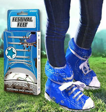 Spinning Hat FESTIVAL FEET Fun Waterproof Shoe Cover Protectors - Blue