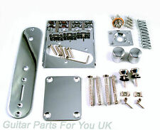Telecaster FULL BODY kit di hardware CROMATO VINTAGE SINGLE COIL Bridge Nuovo