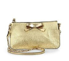 New Auth Burberry Prorsum Heritage Metallic Bow Convertible Clutch Shoulder Bag