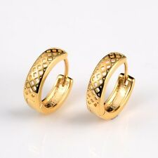 2016 New Fashion Womens 18k Yellow Gold Filled Lovely Hoops Charms Earrings Hot