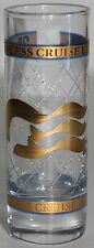 """Shooter Glass Princess Cruise Line Etched Glass w/ Gold - 4"""" Shot Glass Barware"""