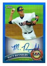 Matt Reynolds 2011 Topps Chrome USA Blue Autograph USAABB18   Ser # 93/99