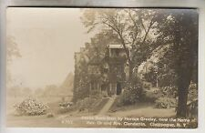 1912 RPPC - HOME OF REV. DR. AND MRS. CLENDENIN - CHAPPAQUA NEW YORK