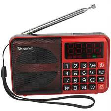 Digital FM Radio Receiver MP3 Player USB Multimedia Speaker Rechargeable Battery