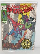 AMAZING SPIDER-MAN #97 - Drug Story NOT Approved by CCA - VF - Green Goblin VF+