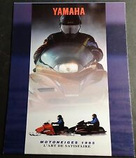 1995 FRENCH YAMAHA SNOWMOBILE SALES BROCHURE POSTER SIZE NICE     (802)