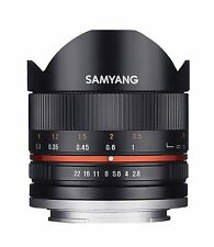 Samyang 8mm f2.8 Aspherical IF MC Fisheye CS II Lens - Black Fuji X mount Fit