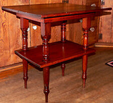 "c1900 occasional / lamp stand, southern yellow pine, Alabama, orig patina, 26""w"