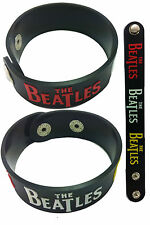 THE BEATLES NEW! Rubber Bracelet Wristband Lennon McCartney Harrison Starr