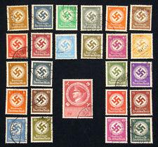 3. Reich Dienst Nr. 132-143 und 166-177 gestempelt , Hakenkreuz im Eichenkranz.&