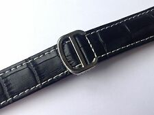 20MM ORIS GENUINE LEATHER WATCH STRAP BLACK STAINLESS STEEL BUCKLE