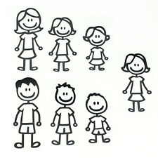 Removable Family Member Figure Wall Stickers Viny Art for Auto Cars Truck Decal