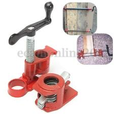 Heavy Duty 3/4 Wood Gluing Pipe Clamp Set Kit Profesional Woodworking Cast Iron