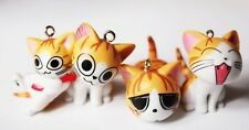 1set 9 X yellow lovely cartoon cat Charms pendants DIY Jewellery Making crafts
