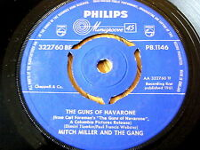 "MITCH MILLER AND THE GANG - THE GUNS OF NAVARONE  7"" VINYL"