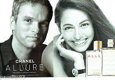 PUBLICITE ADVERTISING 125  2002  CHANEL  parfum ALLURE homme & femme (2p)