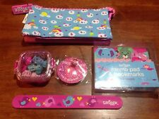 Smiggle Girls Pencil Case Safari Note Book Kit Mood Ring Scented Erasers